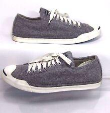 Converse Jack Purcell LP Gray Compacted Wool Sneaker US Women 10 Minimal Wear