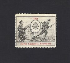 WW1 Delandre Poster Stamp NORTH SOMERSET YEOMANRY