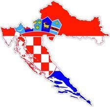 Aufkleber Sticker Decal Emblem Flagge Fahne Landkarte Karte Kroatien