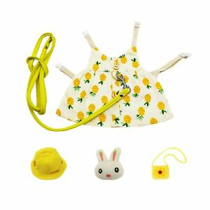 STTQYB Bunny Rabbit Harness and Leash, Rabbits Clothes for Bunny Guinea Pig H...