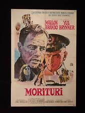 MORITURI (1965) * MARLON BRANDO * YUL BRYNNER * ARGENTINE 1sh MOVIE POSTER
