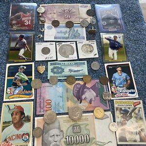 Junk drawer lot#3 vintage silver coins 1896 o Morgan dollar 1945 half dollar