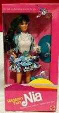 Vintage 1989 Mattel Western Fun Nia Barbie Doll