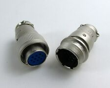 ITT Cannon Mated Solder Cup 10 Position Connectors JC1A16-10P & JC6A16-10S(L622)