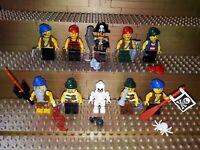 10 Lego Piraten Figuren mit Zubehör. Minifig. Imperial System Pirates Insel P25