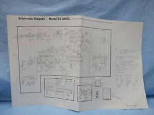 Panasonic Stereo Tuner ST-2800L Schematic Diagram Japan printed SQX471