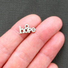 18 Hope Charms Antique Silver Tone 2 Sided - SC1678
