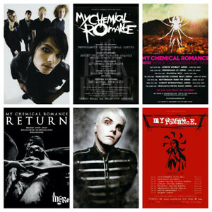 My Chemical Romance the return 2020 tour print/poster music Black Parade Gerard