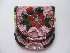 Native American Indian Beaded Coin Change Watch Purse Crow  Nez Perce Yakima