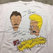 90s VTG BEAVIS & BUTTHEAD MTV T Shirt Made in USA Stanley Desantis XL Sucks