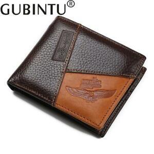 Quality Gubintu Genuine Leather Bifold Coin Pocket Zip Wallet Credit Cards Eagle