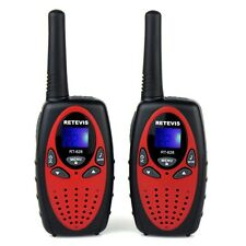 Red Retevis RT628 Kids Gift Walkie Talkie UHF 22CH LCD Display Two-Way Radio US