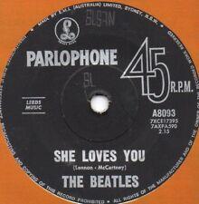 "THE BEATLES - SHE LOVES YOU - 7"" 45 VINYL RECORD - AUSTRALIAN 1963 PARLOPHONE"