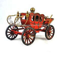 Handmade 1898 Red Court Spyker Carriage Tinplate Antique Style Metal Model
