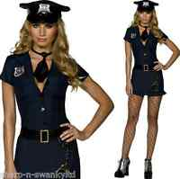 Mujer Fiebre Sexy Picante Policía Policía Uniforme Disfraz