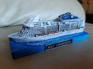 Msc Grandiosa Mini Cruise Ship Model. Modellino Nave Msc. Kreuzfhart Schiff....