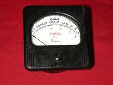 Simpson DC 0-2k+ Ohms 0-5A Tube Amplifier Preamp Analog Panel Meter