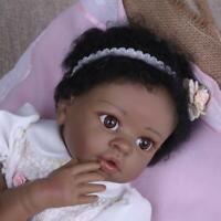 55cm Black Girl Reborn Baby Dolls Cute Newborn Toddler Lovely Child Xmas Gift