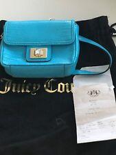 Juicy Couture Baby Blue transversal Bolso de cuero