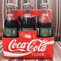 Vtg 1996 Olympic Games Torch Relay Atlanta 6 Pack 8oz Coca Cola Classic Bottles