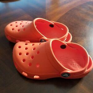 CROCS Kids Toddler Classic Clog C 9 Orange Shoes Sandals