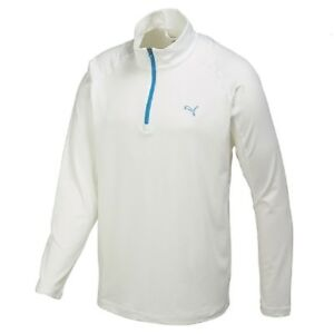 PUMA GOLF SOLID 1/4 ZIP POPOVER Gr. S M L Sweat DryCell 569113 02 Weiß Pullover
