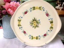 """Vintage Hand Painted Floral Pattern Cake Plate/Serving Tray/Platter 13"""" x 12"""""""