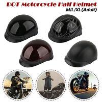 M/L/XL DOT allemand Style capitonné demi Jet casque moto Quad motard pilote noir