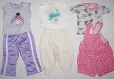 Baby girl 5 piece lot 12 months pants, tops, shortalls