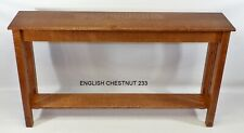 Craftsman Mission Console Hall Sofa Table Made to Your Size 33 Colors