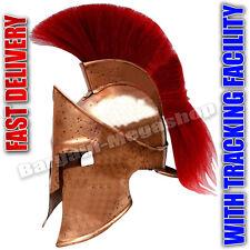 Medieval Roman Spartan Helmet King 300 Leonidas Armor W/Red Plume z@#5