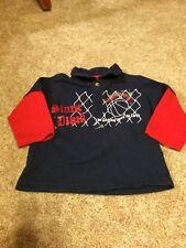 Faded Glory Toddler Boys Dark Blue Red Basketball Slamdunk Top 18 Months