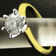 DIAMOND SOLITAIRE RING 1.08ct REAL 18 K SOLID YELLOW GOLD BRILLIANT VALUED $6450