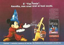 X1486 Fantasia - Walt Disney Home Video - Pubblicità del 1991 - Vintage advert