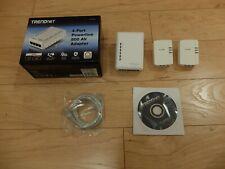 TRENDnet Powerline Ethernet Adapter Kit 500 AV 4-Port + 2 Nano Adapters TPL-406