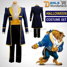 Movie Beauty and the Beast Prince Adam halloween Cosplay Costume Suit Full Set