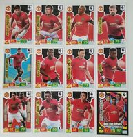 2019/20 Manchester United Team Set Soccer Cards Panini Adrenalyn EPL (12 cards)