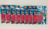 It's Academic XXL Jumbo Book Cover Oversize Hot Pink Lot Of 8 *FREE SHIPPING*