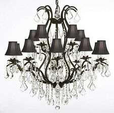 Wrought Iron Chandelier Crystal Chandeliers Lighting H36