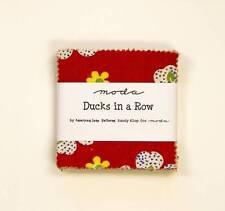 """Moda Mini Charm Pack   ~ Ducks In A Row  ~  American Jane   2.5"""" x 2.5"""""""