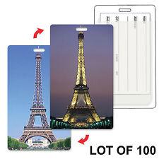 Eiffel Tower Paris Luggage Travel Tag Flip Lenticular Lot of 100 #LT01-602-S100#