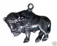 12 wholesale lead free pewter buffalo pendants 5044