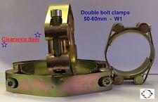 Doble Perno abrazadera 50-60mm suave de acero zincado Socket Tornillo