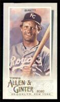 2020 Topps Allen and Ginter Base Mini #18 George Brett - Kansas City Royals