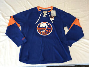 NHL CCM NEW YORK ISLANDERS HOCKEY LACE UP JERSEY CREW PULLOVER MEN'S SIZE XL $80
