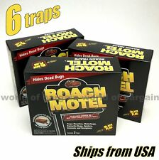 6 pc Black Flag ROACH MOTEL Cockroach Trap Bug Killer Bait Insect Glue Traps H87