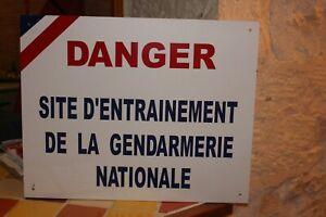 Panneau Airsoft Déclassé Sécurité Gendarmerie Chasse Armée Décoration Loft RARE
