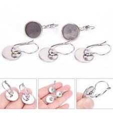 10X DIY Silver Plated Brass Earring Hooks Blanks Earring Base Jewelry Finding FT