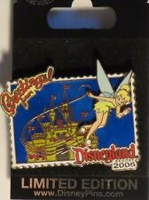 DISNEY DLR GREETINGS FROM DISNEYLAND 2006 TINKER BELL OVER CASTLE LE 1000 PIN