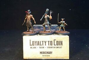 Loyalty to Coin (M3E) Mercenary Malifaux-well painted miniatures (3)